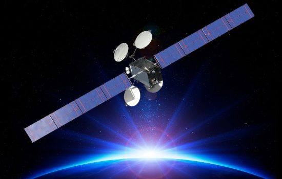 An artists' rendering of the world's all-electric propsulsion satellite, ABS-3A, on-orbit and operating in space - image courtesy of Boeing