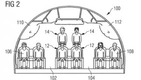 An addition 2 passengers would be seating in each row. Image courtesy of US Patent and Trademark Office.