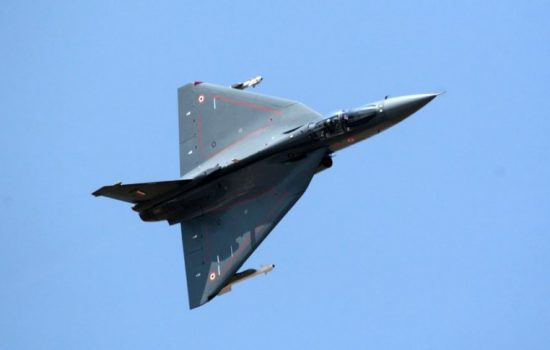 The HAL Tejas, an Indian manufactured fighter jet. Image courtesy of Wikipedia Commons.