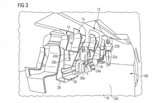 A drawing from the Airbus patent filing. Image courtesy of US Patent and Trademark Office.