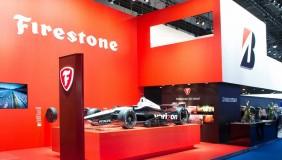 A Bridgestone and Firestone exhibition stand - image courtesy of Bridgestone.