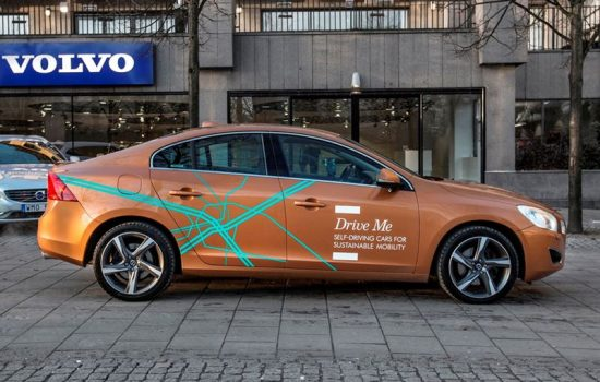 A Volvo self-driving car prototype. Image courtesy of Volvo.