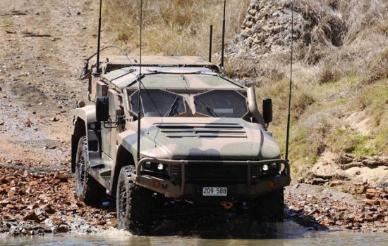 A Hawkei infantry mobility vehicle produced by Thales. Image courtesy of Thales.