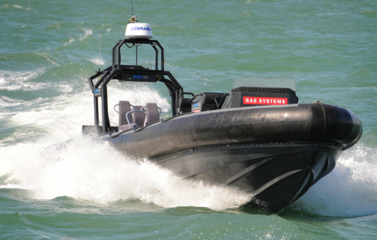 New unmanned boat technology being exhibited by BAE Systems in Portsmouth.