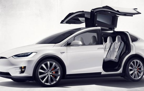 The Tesla Model X comes with standard with all-wheel drive and a 90kWh battery providing 250 miles of range - image courtesy of Tesla.