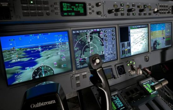 The cockpit of a Gulfstream aircraft - image courtesy of General Dynamics