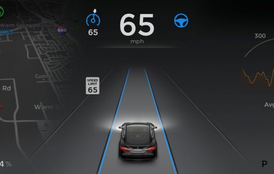 Tesla Autopilot was deployed yesterday to its Model S vehicles. Image courtesy of Tesla Motors.