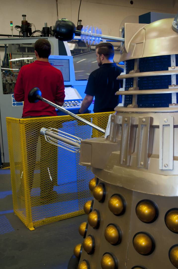 From Davros's point of view, the Dura Manufacturing facility in Plymouth is a dream come true.