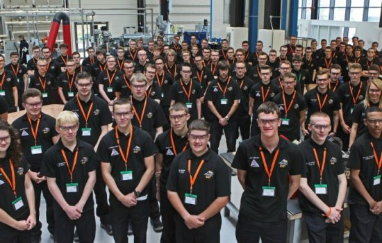 first year, apprentices, AMRC Training Centre, Advanced Manufacturing Park, Rotherham, cohort