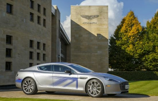 Concept version of electronic Aston Martin RapidE.