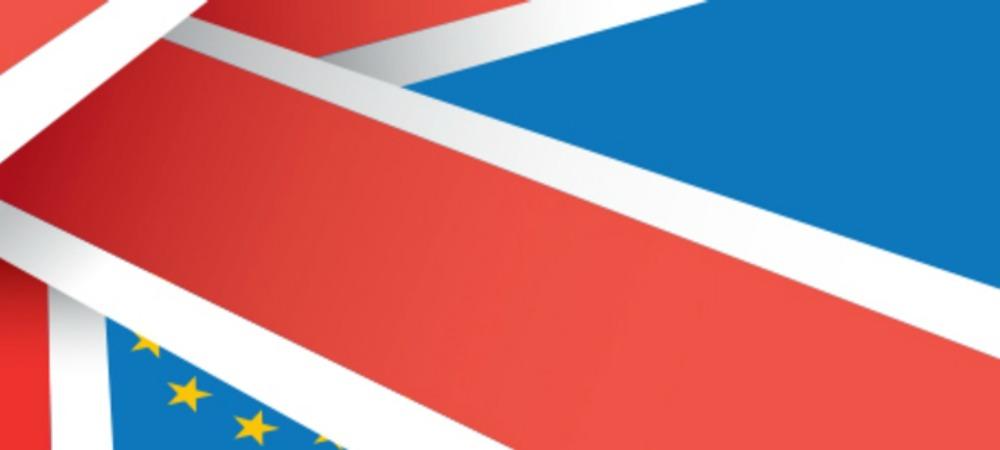 Union Jack EU Flag Brexit - Stock Image