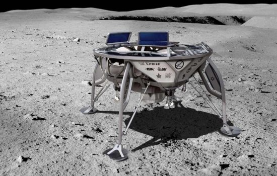An artist's impression of the SpaceIL lander. Image courtesy of SpaceIL.