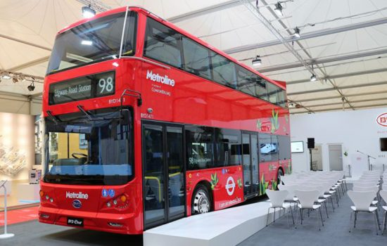 The world's first emissions free double decker bus designed and produced by the world leader in pure electric vehicles, BYD - image courtesy of BYD.