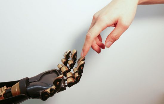 The artificial skin developed by Stanford University researchers. Image courtesy of Stanford University.