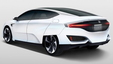 The Honda FCV hydrogen fuel cell vehicle