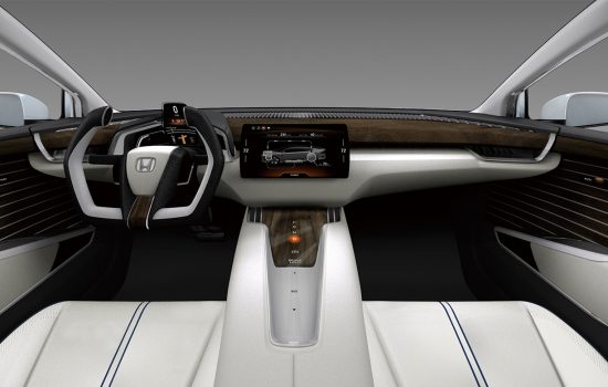 The Honda FCV hydrogen fuel cell front interior - image courtesy of Honda