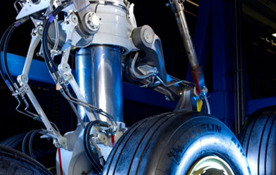 The UTC Aerospace Airbus A380 landing gear - image courtesy of UTC.