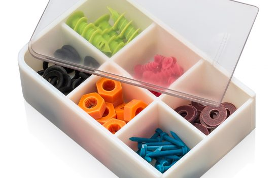 SUP706 from Stratasys is ideal for cleaning multiple small parts simultaneously - image courtesy of Stratasys.