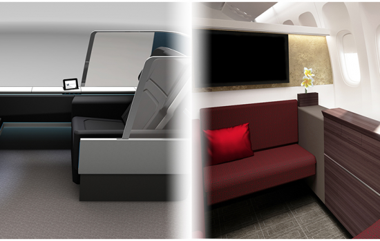 The newest generation the BE Aerospace Oasis platform is being touted as a new level of luxury, which the company has called Super First Class - image courtesy of BE Aerospace