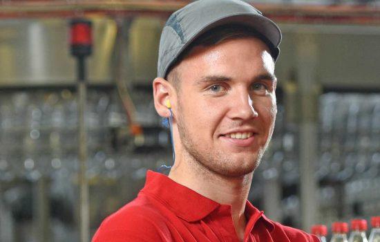 Josh Sloan, apprentice, Coca-Cola Enterprises East Kilbride.