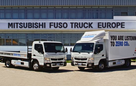 In July 2014 in Lisbon, Portugal, eight new Fuso Canter E-Cell trucks commenced a one year trial
