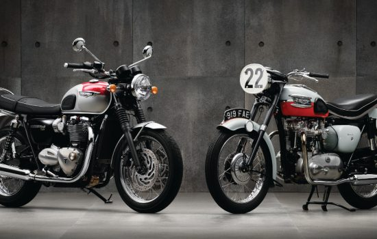 The Bonneville T120 and an original 1959 version - image courtesy of Triumph