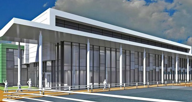 An artist's impression of the new Lloyds Advanced Manufacturing Training Centre.