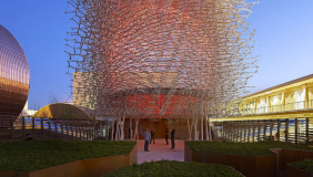 The UK pavilion at the World Expo in Milan 2015 - image courtesy of Expo2015
