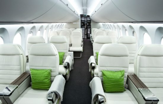 The interior of the Bombardier C Series aircraft - image courtesy of Bombardier