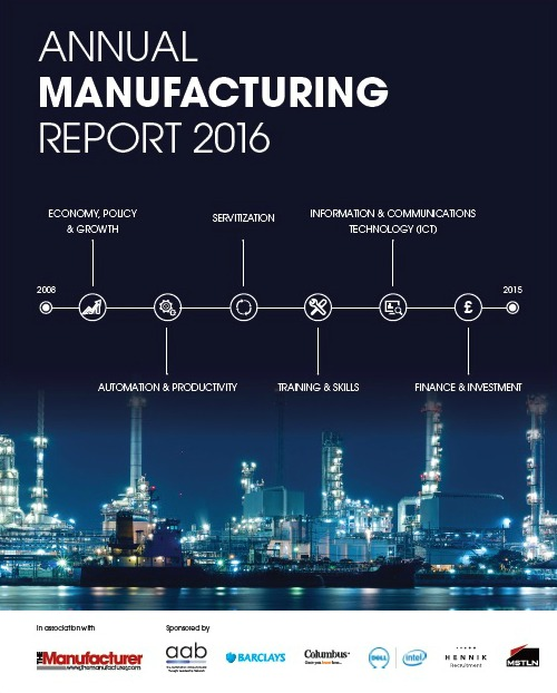 Annual Manufacturing Report 2016 - Front Cover