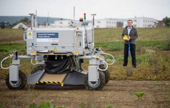 The Bonirob farming robot. Image courtesy of Bosch