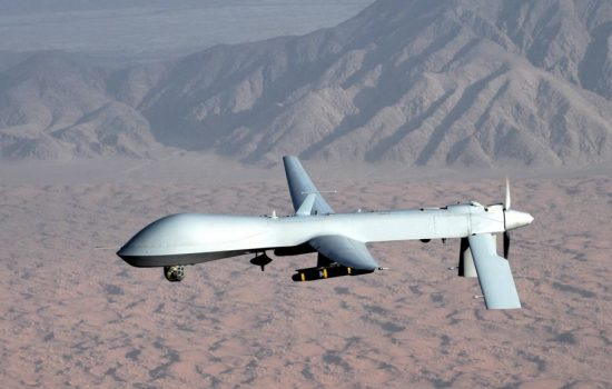 A US MQ-1 Predator drone. Image courtesy of Wikipedia Commons.