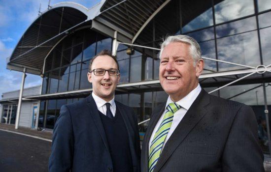 L to R: Iain Thomson, partnerships manager (Harworth Estates) & Graham Sadler, managing director (Sheffield Business Park).