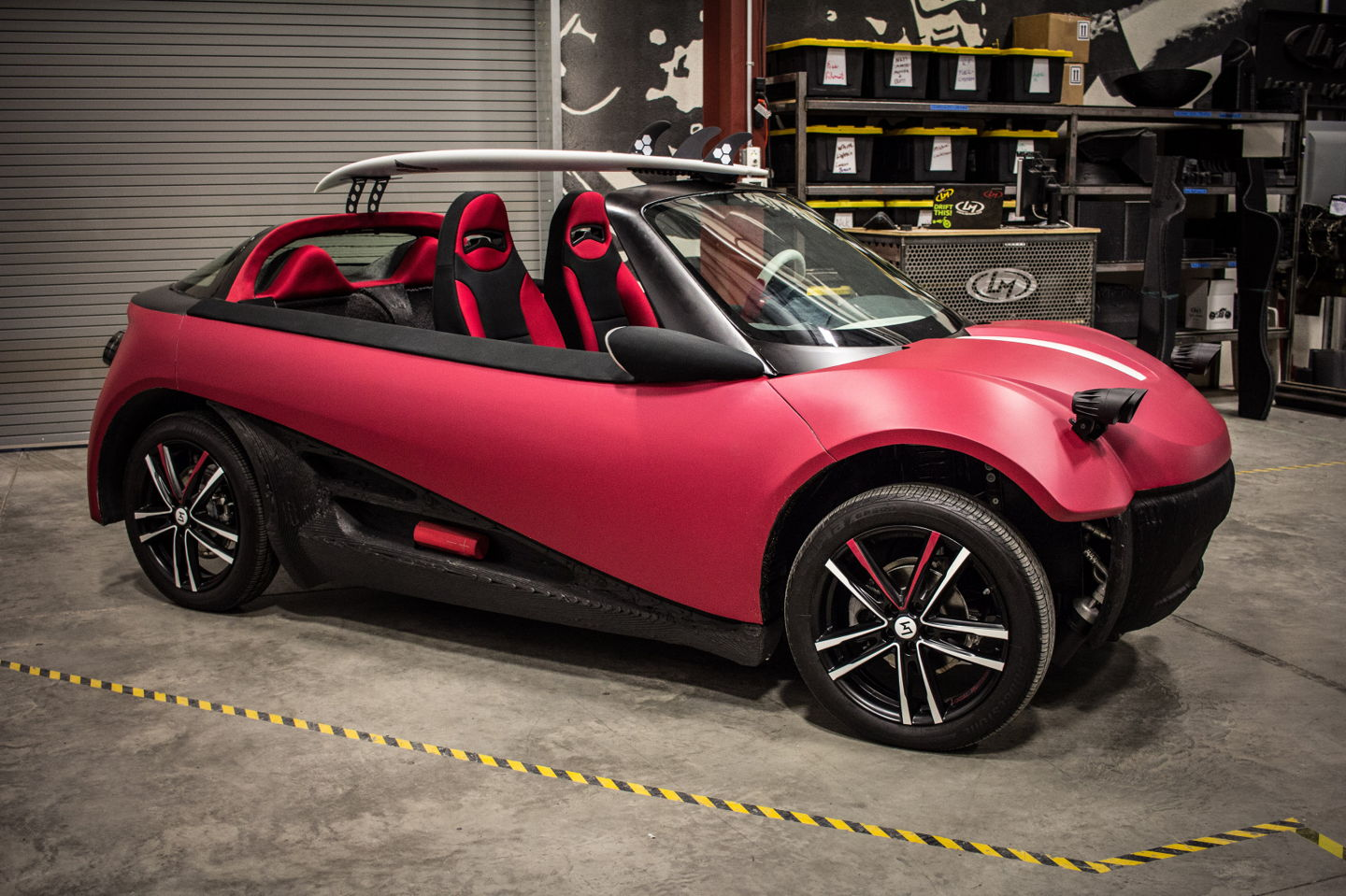 What could be the world's first road-ready, 3D printed car, the LM3D Swim (image courtesy of Local Motors).