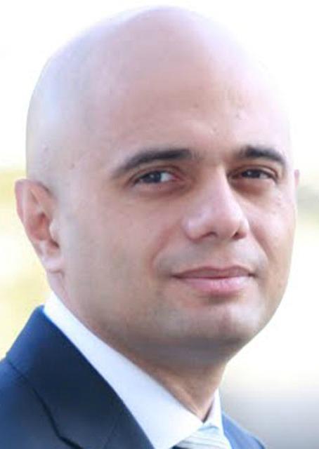 Sajid Javid, Secretary for Business, Innovation and Skills.