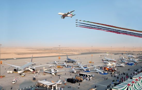 Highlights from the Dubai Airshow including aeiral diplays - image courtesy of Dubai Airshow