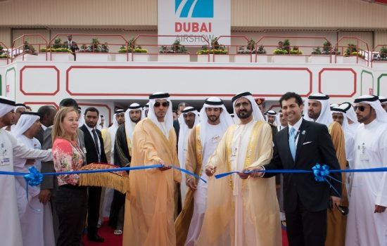 The opening of the Dubai Airshow - image courtesy of the Dubai Airshow