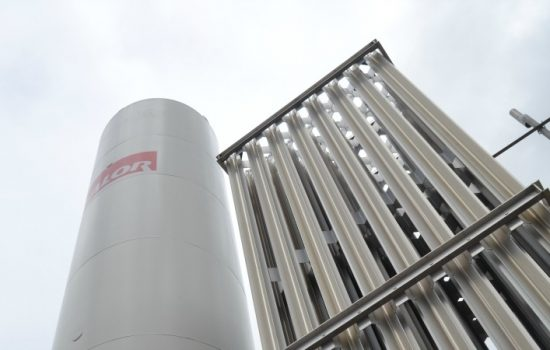 Calor LNG tank installed at Aggregate Industries' Colemans Quarry site.