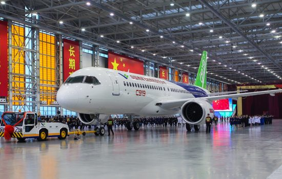The Comac C919 passenger aircraft. Image courtesy of Comac.