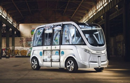 One of the Navya autonomous buses to be used by BestMile. Image courtesy of Navya.