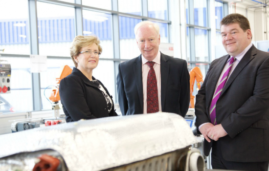 L to R: Carol Burke (Unipart Manufacturing), John Neill (Unipart Group) and Carl Perrin (AME).
