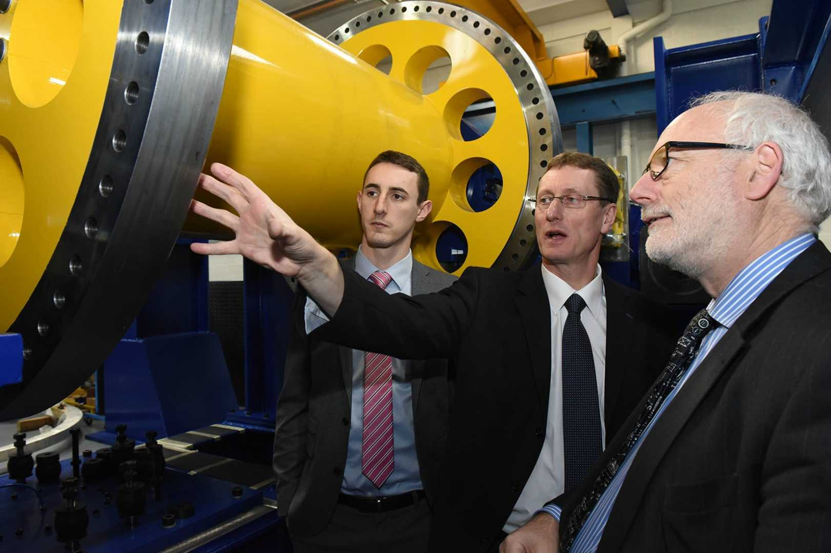L to R: Adam Titchen (EEF), Neil Wyke (Georg UK) and Neil Mallinson (Warwick Manufacturing Group).