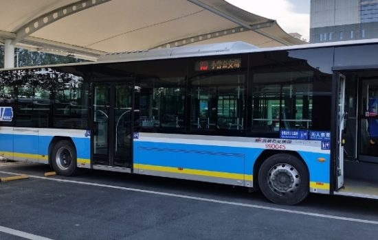 EV bus charging in Xiaoying Charging Complex - image courtesy of Microvast