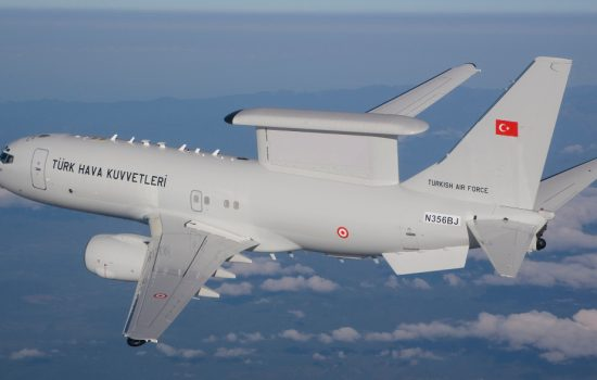 Boeing has delivered the fourth and final Airborne Early Warning & Control Peace Eagle aircraft to the Turkey government - image courtesy of Boeing.