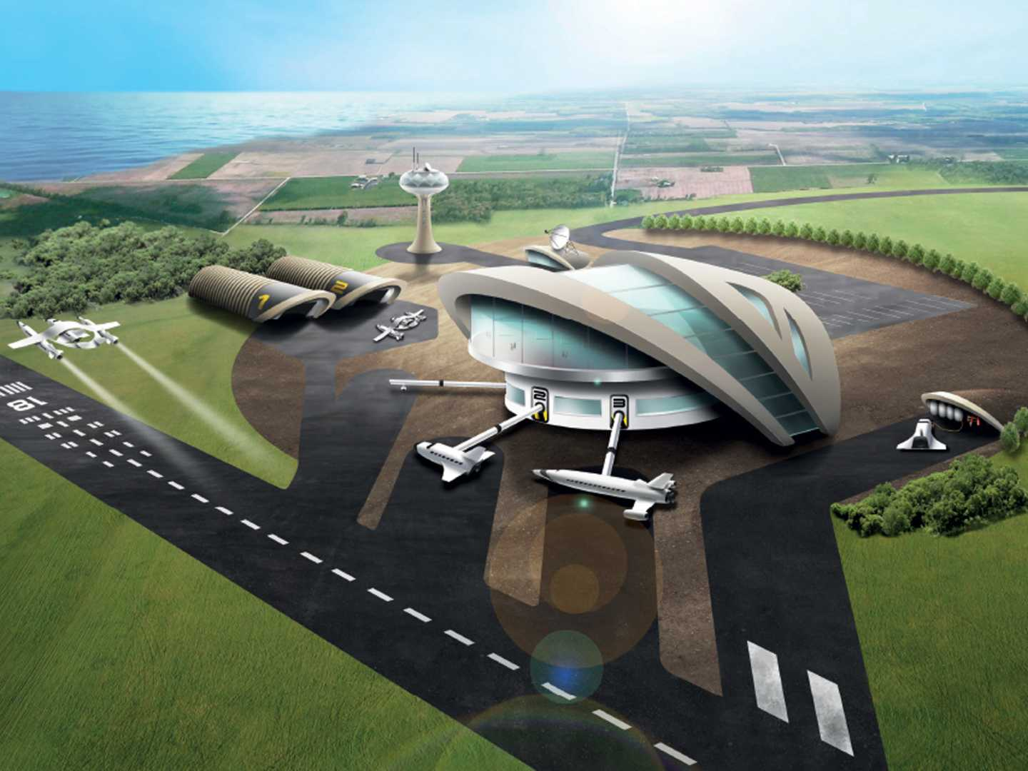 The Spaceport will enable take-off and landing of reusable space vehicles, such as Skylon and Virgin Galactic.