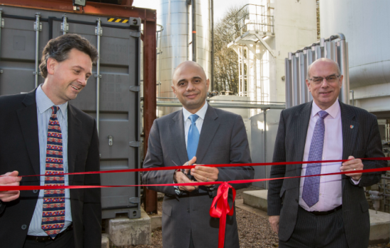 Sajid Javid MP opens University's cryogenic energy storage pilot facility