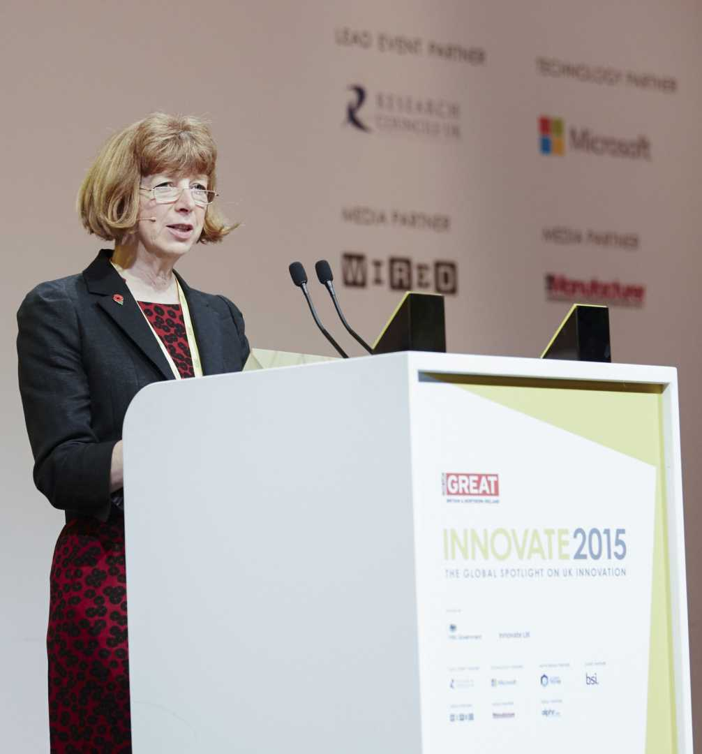 Dr Ruth McKernan speaking at the Innovate 2015 conference in Central London.