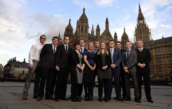 The Industry Apprenticeship Council outside the Houses of Parliament