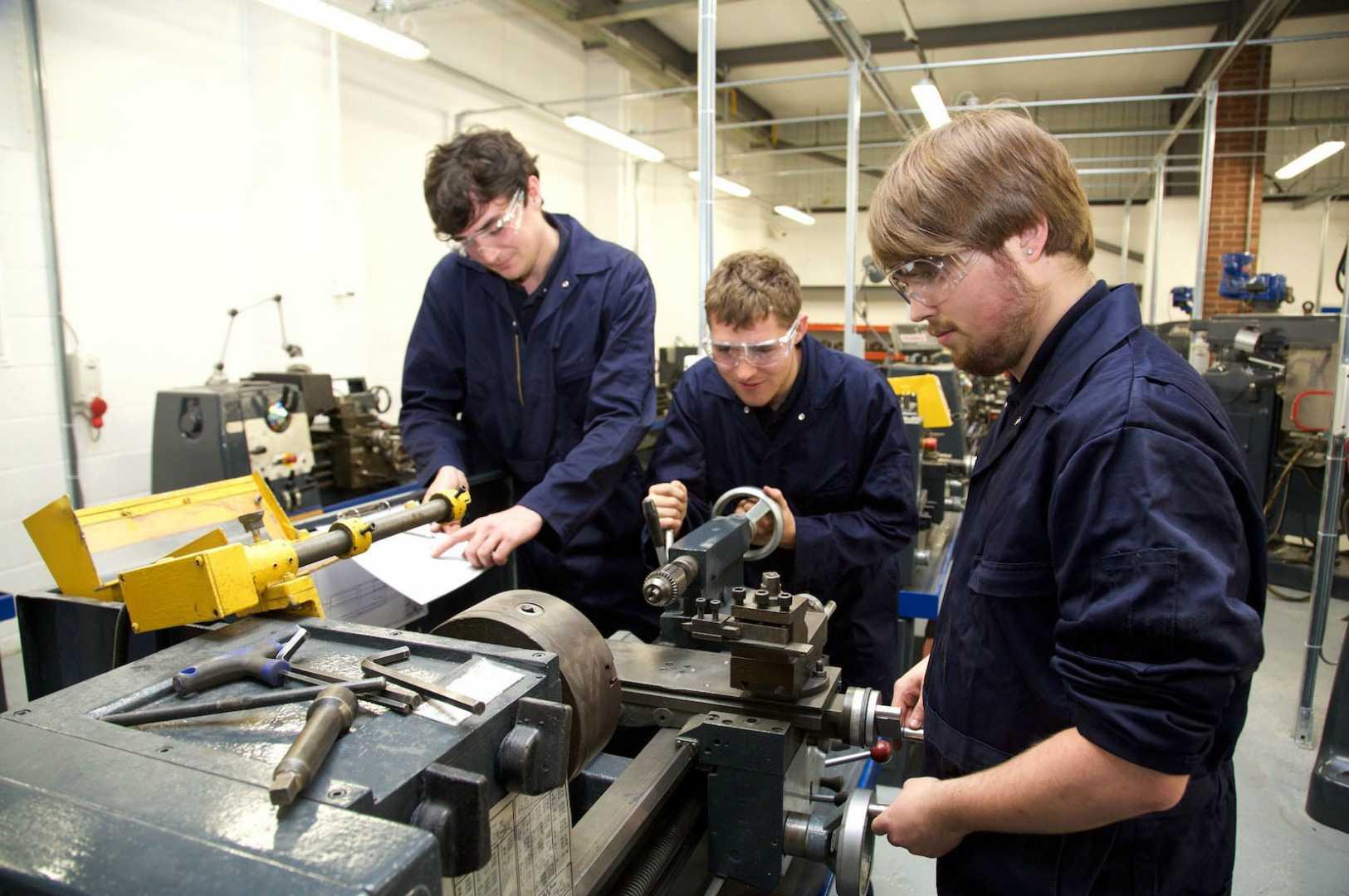 (L to R) Alex, Malam, Connor Macrae and Alex Owen (all apprentices at Salop Design & Engineering).