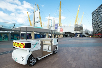 The driverless vehicles that will be tested in London will look different to the previous demonstration model.